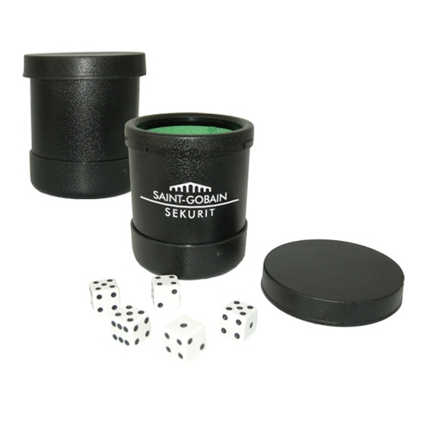 This Custom Dice Shaker Features A Lid To Hold Dice In Tight During Game Play Photo
