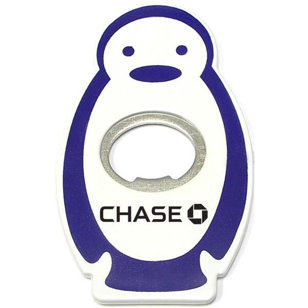 Penguin shape magnetic bottle opener