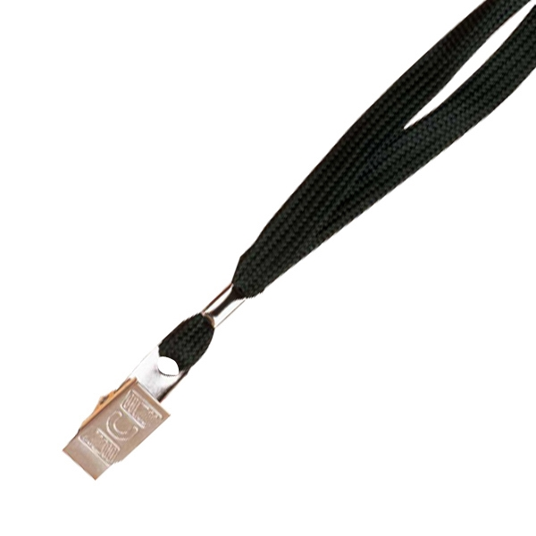"Cord Lanyard With Bulldog Clip Attachment, 18"" Length. Blank Photo"
