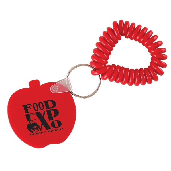 Apple - Vinyl Key Chain With Coil Wristband Photo