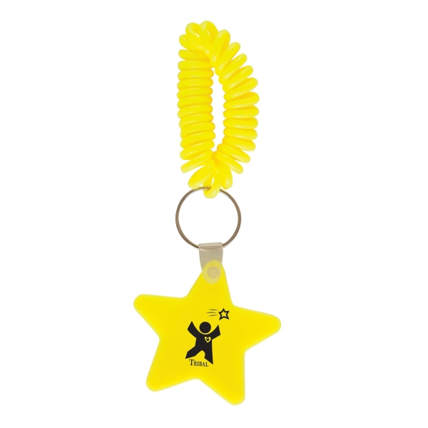 Star - Vinyl Key Chain With Coil Wristband Photo