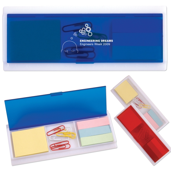 Sticky Note And Paper Clip Ruler Case Photo