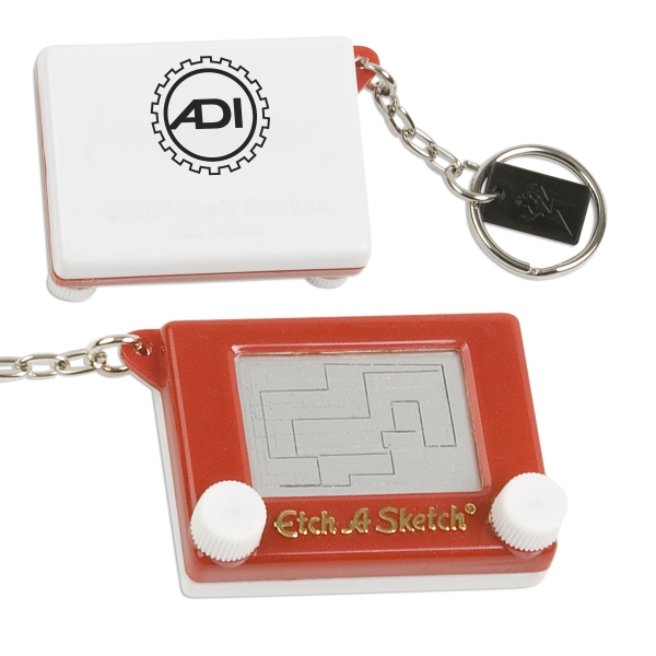 Etch-a-sketch (r) - Key Holder/key Chains With Game Attached Photo