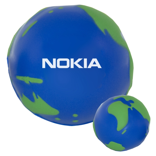 "Globe Shaped Stress Reliever, 2 3/4"" Diameter Photo"