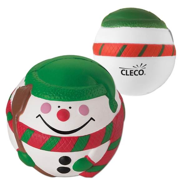 Stress Reliever Ball With Snowman Design Photo