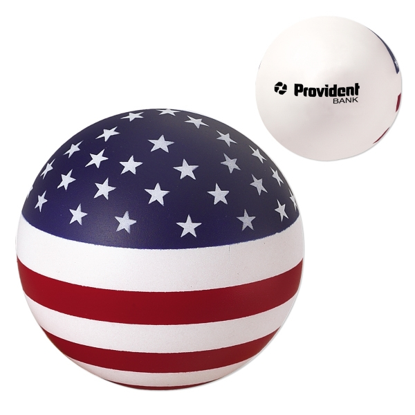 Stress Reliever Round Ball With U.s. Flag Design Photo