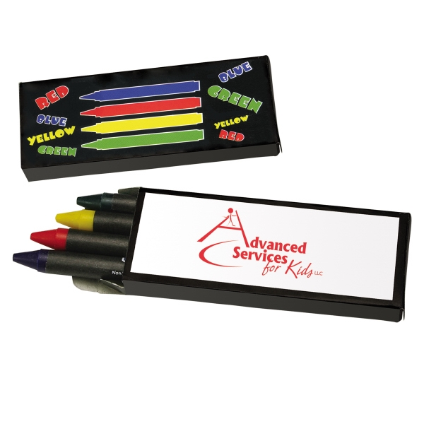 Box Of 4 Colored Non-toxic Crayons Photo