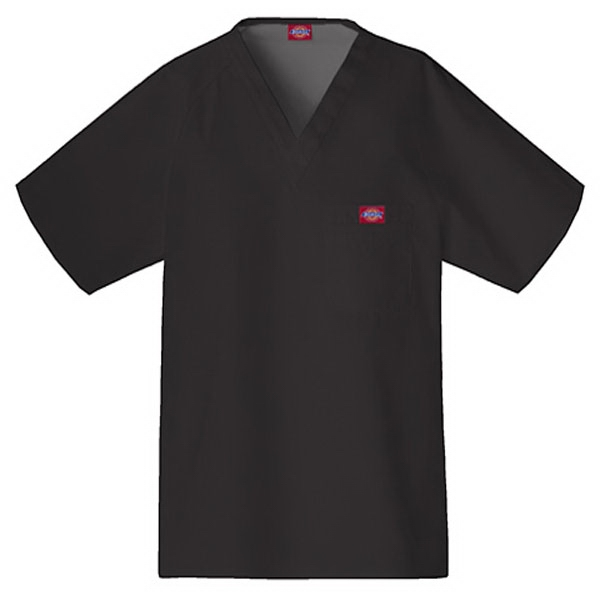 Cherokee - Black - Sa816106 Dickies Men's Raglan Sleeve Scrub Top - 9 Colors Available Photo