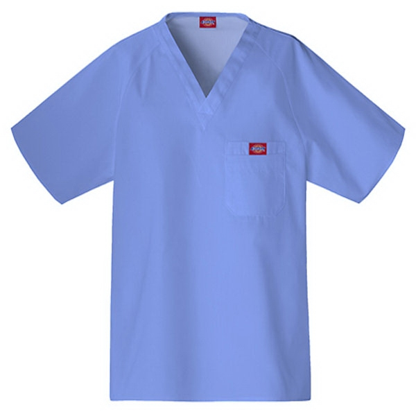 Cherokee - Ciel Blue - Sa816106 Dickies Men's Raglan Sleeve Scrub Top - 9 Colors Available Photo