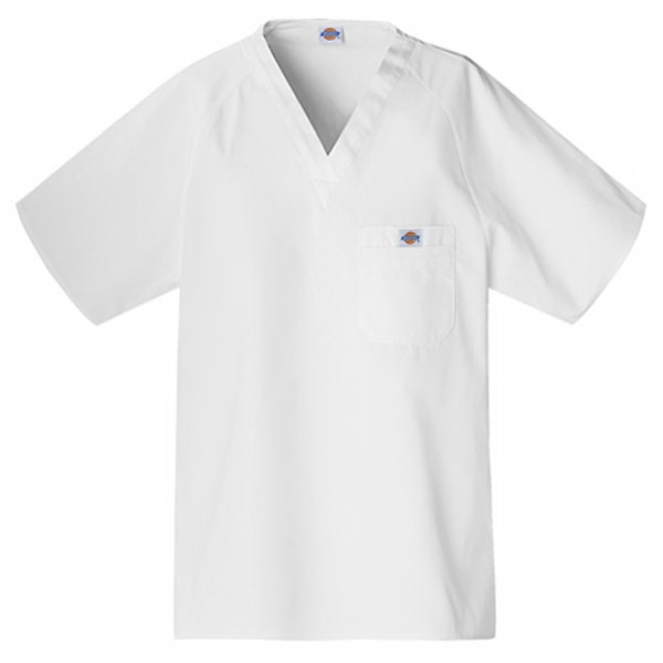 Cherokee - Dickies White - Sa816106 Dickies Men's Raglan Sleeve Scrub Top - 9 Colors Available Photo