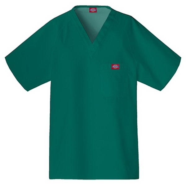 Cherokee - Hunter - Sa816106 Dickies Men's Raglan Sleeve Scrub Top - 9 Colors Available Photo