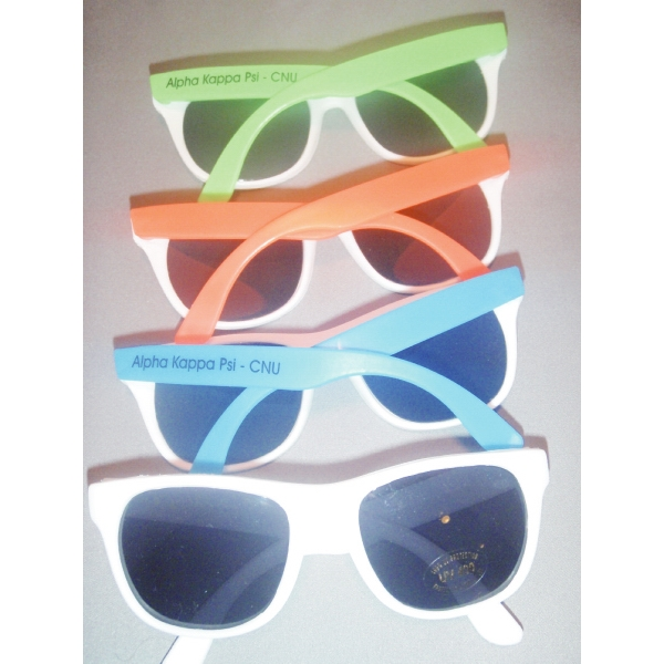 Uv Sunglass , All White Or White With Assorted Bright Arms Photo