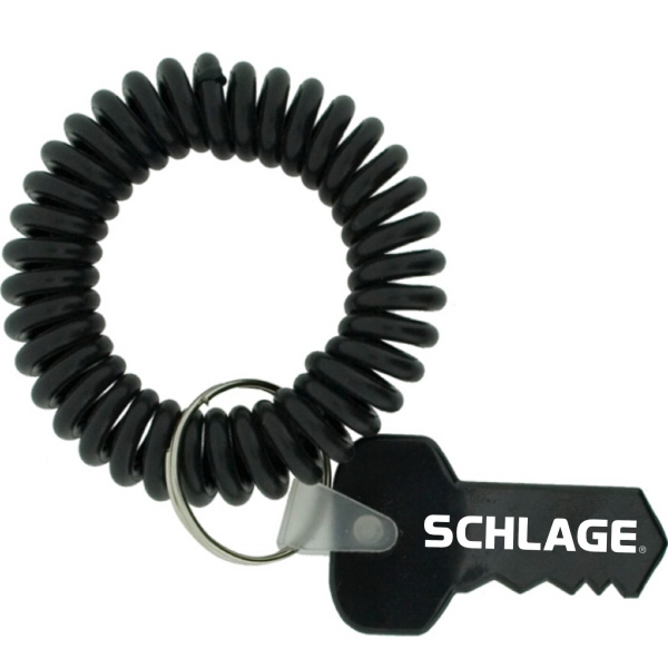 Stretchable Wrist Coil With Key Shape Tag Photo