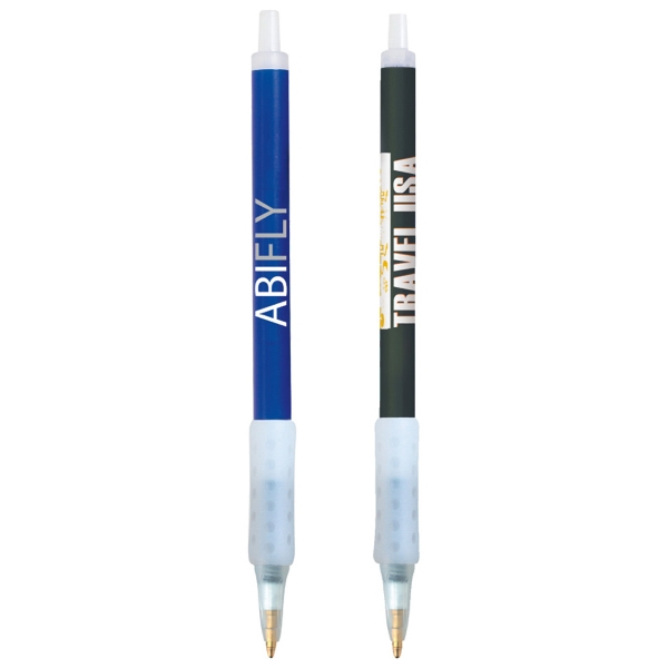 Clic Stic (r) Ice Grip - Retractable Ballpoint Pen With Rubber Grip And Frosted Ice Colored Barrel Photo