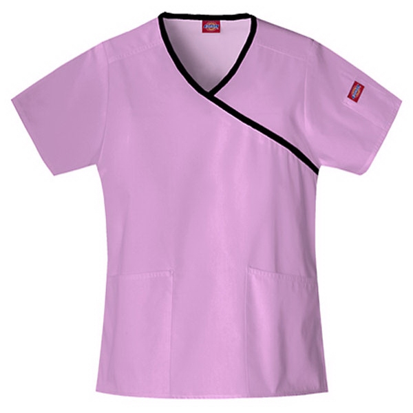 Dickies (r) - Candy Orchid - Sa815206 Mock Wrap Scrub Top #sa815206 - 15 Colors Available Photo