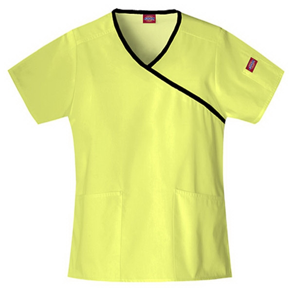 Dickies (r) - Key Lime - Sa815206 Mock Wrap Scrub Top #sa815206 - 15 Colors Available Photo