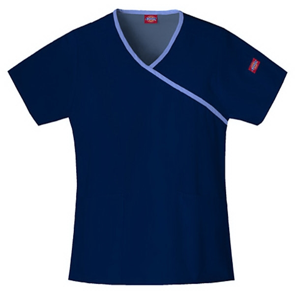 Dickies (r) - Natural - Sa815206 Mock Wrap Scrub Top #sa815206 - 15 Colors Available Photo