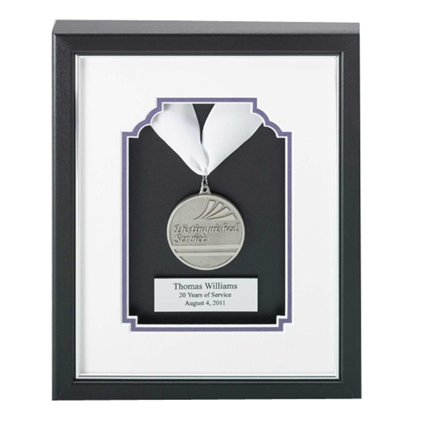 Professional Gallery - Silver Stock Die Struck Medallion In A Wood Frame With A Black Finish Award Photo