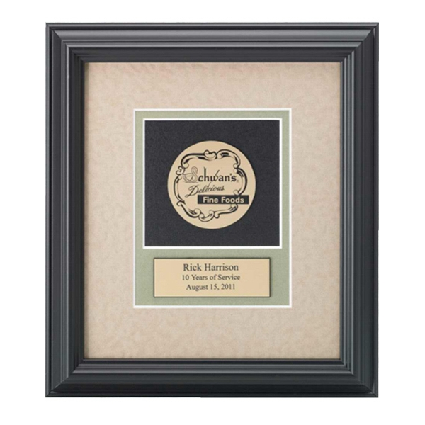 Professional Gallery - Gold Medallex Medallion In A Wood Frame With A Black Finish Award Photo