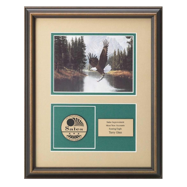 Professional Gallery - Mountain Majesty Art Print & Medallex Medallion Award In Walnut Finished Frame Photo
