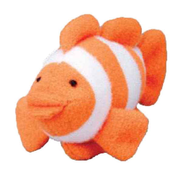 Weebeans (tm) Animal Fair - Clownfish - Three Inch Plush Toy Animal With Silver Ball Chain, Blank Photo