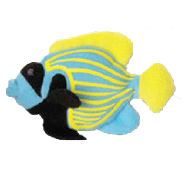 Weebeans (tm) Animal Fair - Angelfish - Plush Three Inch Toy Animal With Silver Ball Chain, Blank Photo