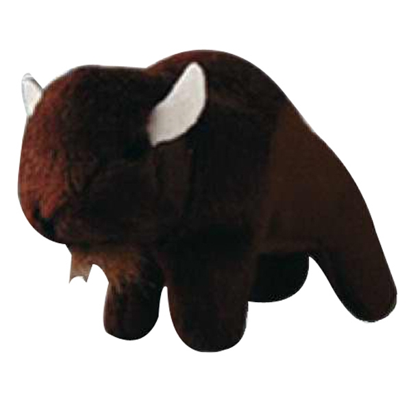 Weebeans (tm) Animal Fair - Buffalo - Plush Three Inch Toy Animal With Silver Ball Chain, Blank Photo