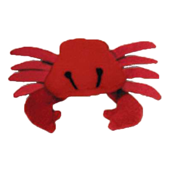 Weebeans (tm) Animal Fair - Crab - Three Inch Plush Toy Animal With Silver Ball Chain, Blank Photo