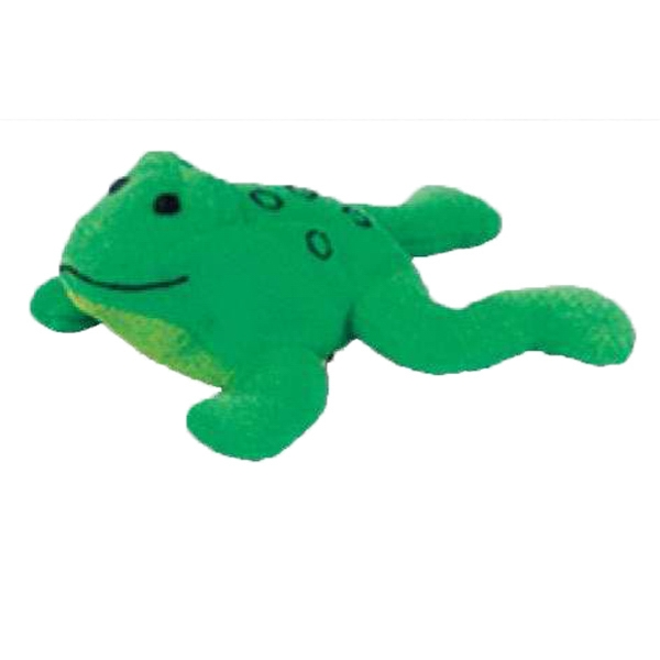 Weebeans (tm) Animal Fair - Frog - Plush Three Inch Toy Animal With Silver Ball Chain, Blank Photo