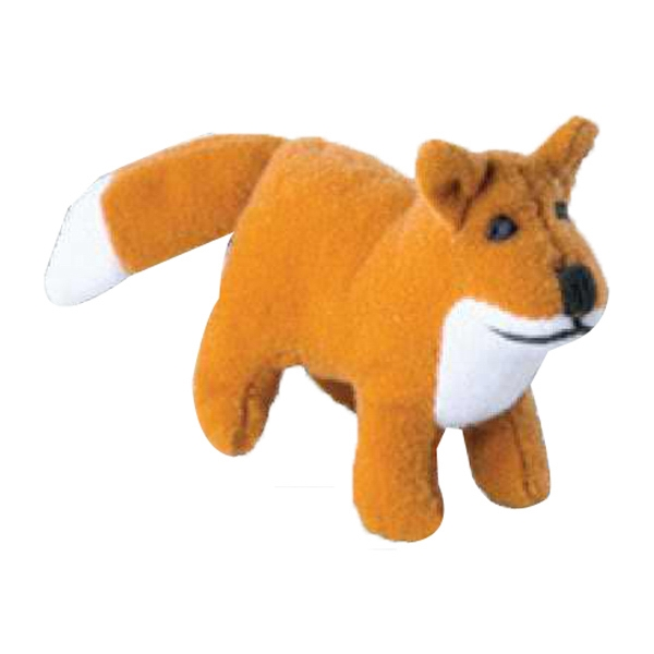 Weebeans (tm) Animal Fair - Fox - Plush Three Inch Toy Animal With Silver Ball Chain, Blank Photo