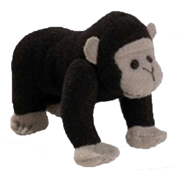 Weebeans (tm) Animal Fair - Gorilla - Plush Three Inch Toy Animal With Silver Ball Chain, Blank Photo
