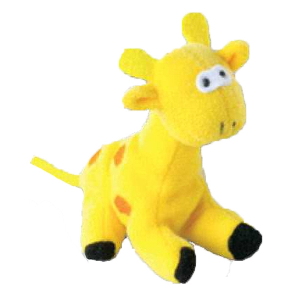 Weebeans (tm) Animal Fair - Giraffe - Plush Three Inch Toy Animal With Silver Ball Chain, Blank Photo