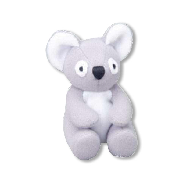 Weebeans (tm) Animal Fair - Koala - Plush Three Inch Toy Animal With Silver Ball Chain, Blank Photo