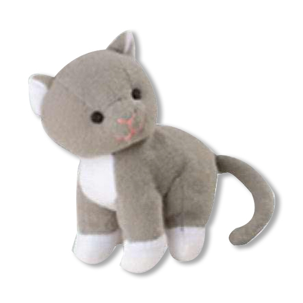 Weebeans (tm) Animal Fair - Kitty - Plush Three Inch Toy Animal With Silver Ball Chain, Blank Photo