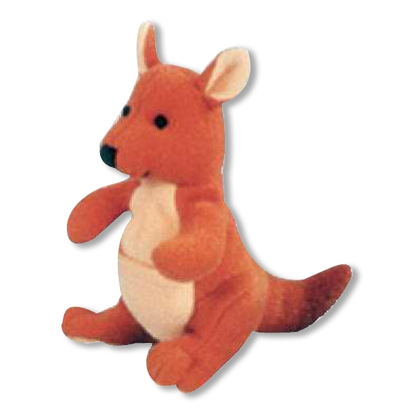Weebeans (tm) Animal Fair - Kangaroo - Plush Three Inch Toy Animal With Silver Ball Chain, Blank Photo