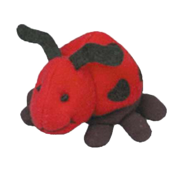 Weebeans (tm) Animal Fair - Ladybug - Three Inch Plush Toy Animal With Silver Ball Chain, Blank Photo