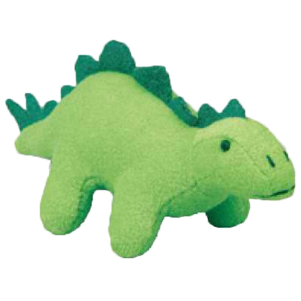 Weebeans (tm) Animal Fair - Stegosaurus - Three Inch Plush Toy Animal With Silver Ball Chain, Blank Photo