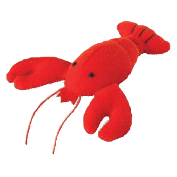 Weebeans (tm) Animal Fair - Lobster - Three Inch Plush Toy Animal With Silver Ball Chain, Blank Photo