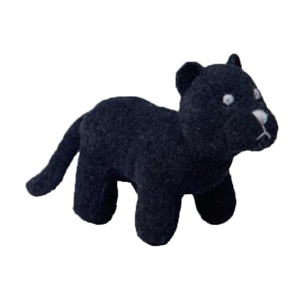 Weebeans (tm) Animal Fair - Panther - Plush Three Inch Toy Animal With Silver Ball Chain, Blank Photo