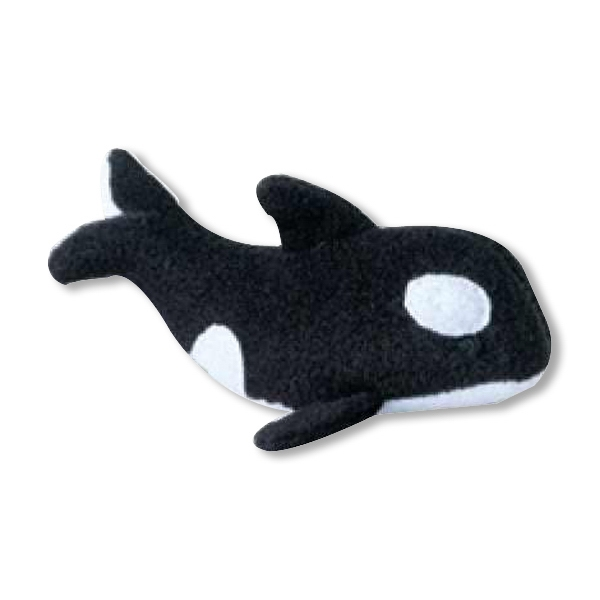 Weebeans (tm) Animal Fair - Whale - Three Inch Plush Toy Animal With Silver Ball Chain, Blank Photo