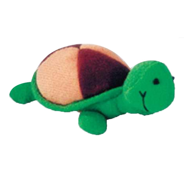 Weebeans (tm) Animal Fair - Turtle - Three Inch Plush Toy Animal With Silver Ball Chain, Blank Photo