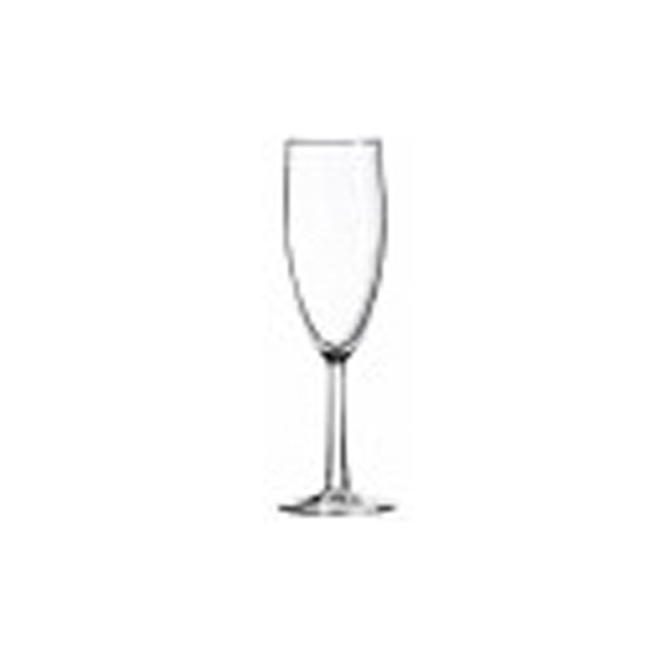 6 Oz Clear Faceted Stem Champagne Flute Glass Photo