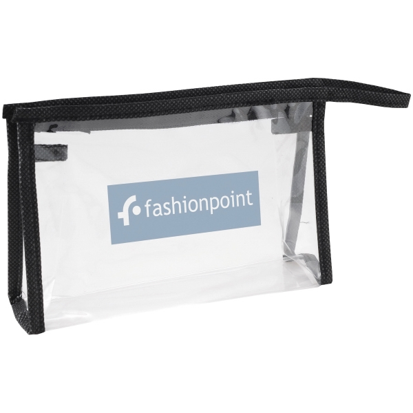 Claro - Zippered Personal Pvc Amenity Pouch With Color Trim Photo
