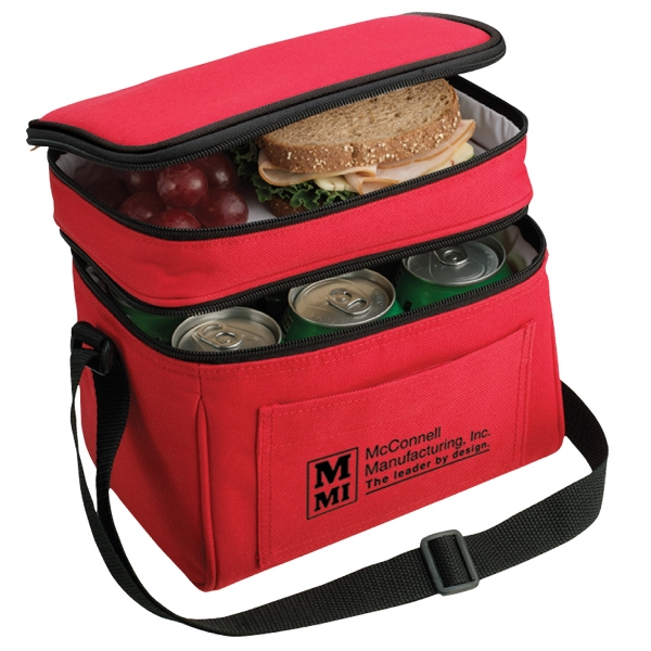 B-Cool 6-Pack Cooler - Durable 600 denier 6-pack cooler. 2 insulated, leak proof compartments and a front pocket with hook and loop tape closure.