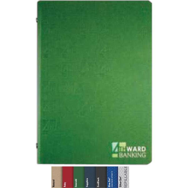 "5.5"" X 8.5"" Refillable, Small 3-ring Leather Binder With 100 Sheets Ruled Paper Photo"
