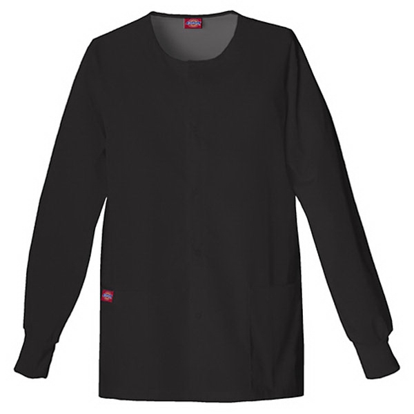 Dickies (r) - Black - Sa885306 Round Neck Scrub Jacket Sa885306 - 20 Colors Available Photo