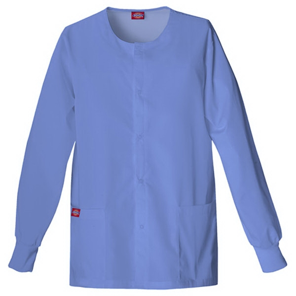 Dickies (r) - Ciel Blue - Sa885306 Round Neck Scrub Jacket Sa885306 - 20 Colors Available Photo