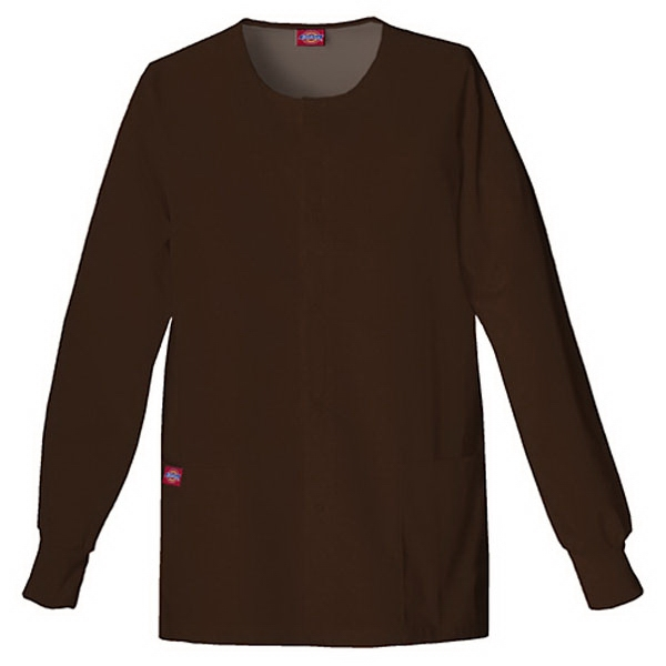 Dickies (r) - Chocolate - Sa885306 Round Neck Scrub Jacket Sa885306 - 20 Colors Available Photo