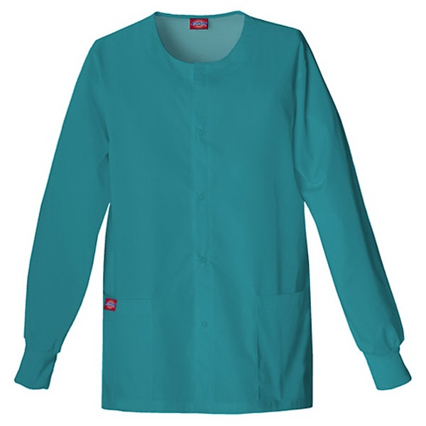 Dickies (r) - Dickies Teal - Sa885306 Round Neck Scrub Jacket Sa885306 - 20 Colors Available Photo