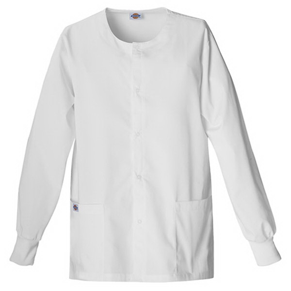 Dickies (r) - Dickies White - Sa885306 Round Neck Scrub Jacket Sa885306 - 20 Colors Available Photo